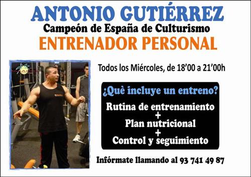 GIMNASIO PARADISE MATARÓ: Entrenador Personal Antonio Gutiérrez ...