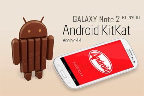 Galaxy Note 2(international) GT-N7100 Andriod Version 4.4 ...