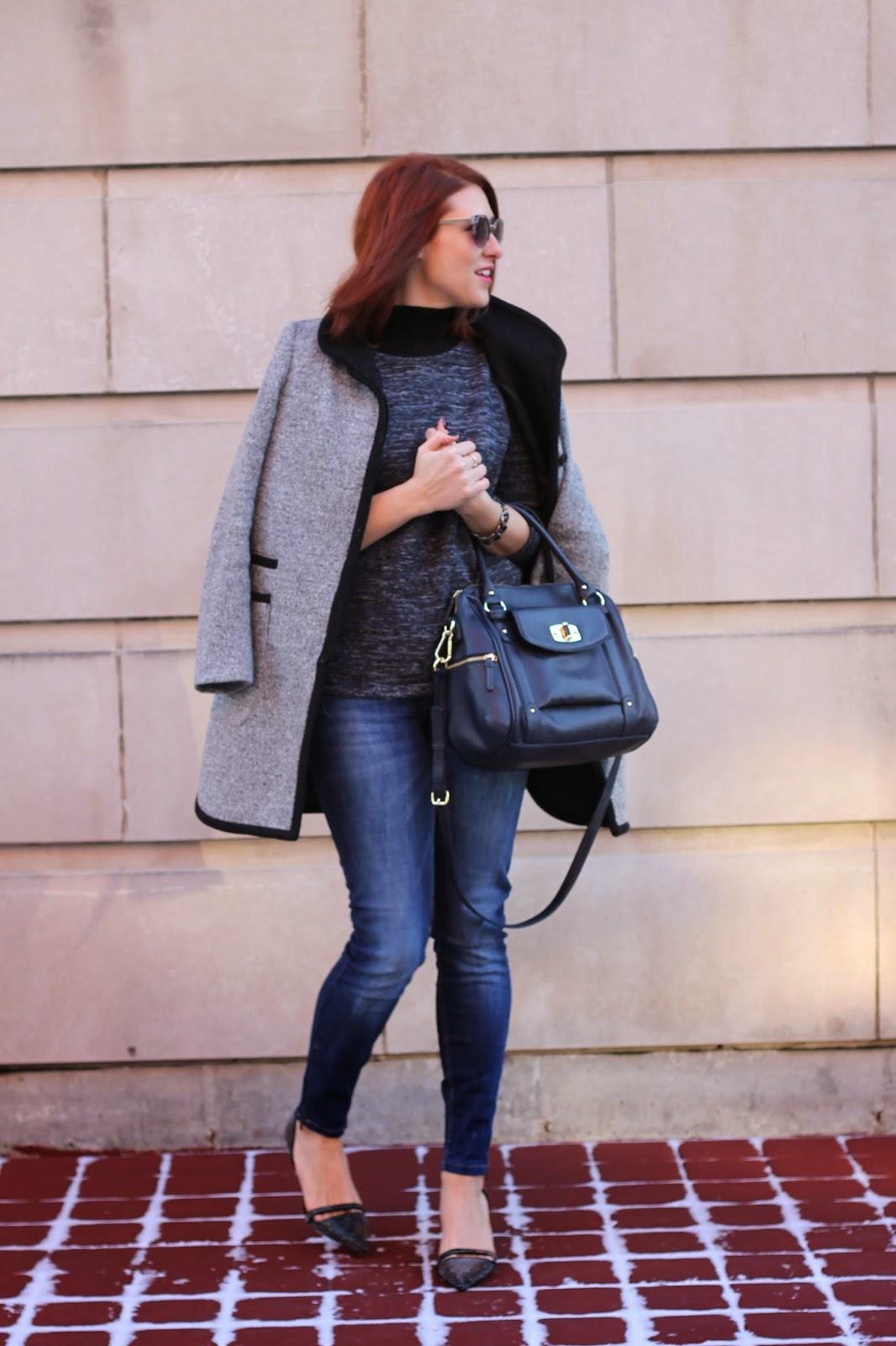 Zara, jacket, Gray