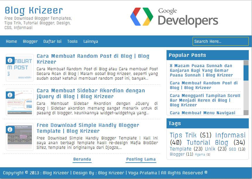 Download Template Blog SoftwarePhreaker Light Blue Responsive