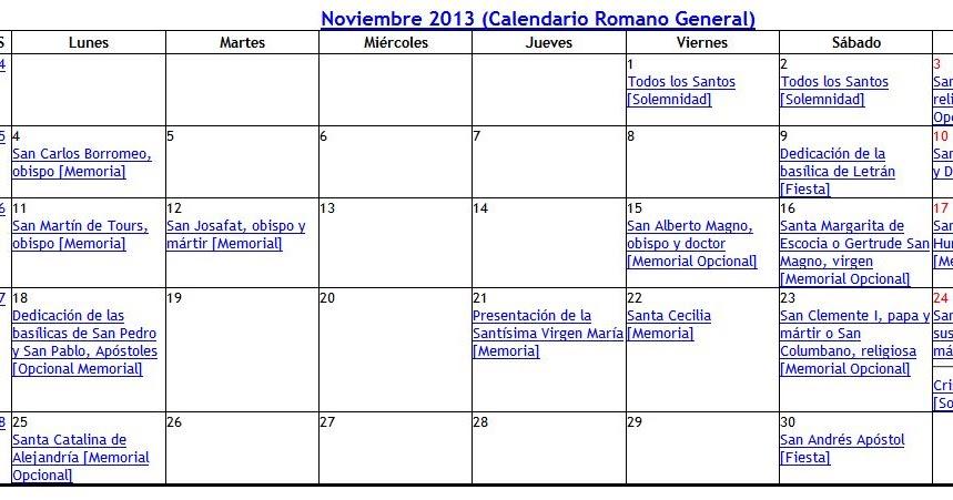 Arquitectura arte sacro y liturgia calendario liturgico 2013 for Arquitectura sacro