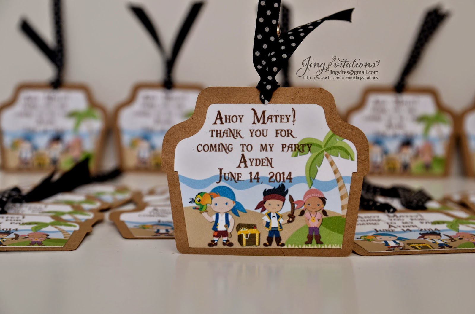 handmade_invitations, pirate and mermaid invitaciones, gift_tags