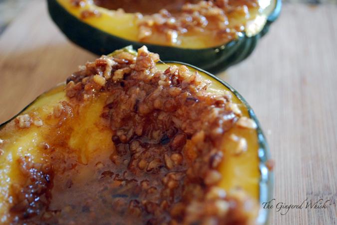 Orange Pecan Acorn Squash - The Gingered Whisk