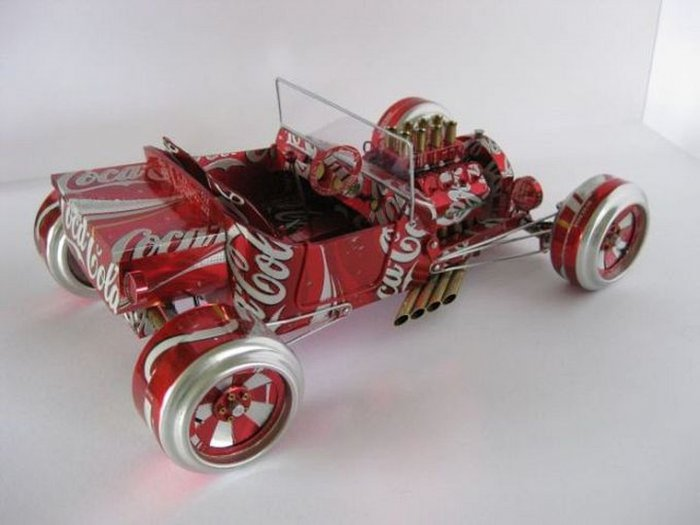 Cars from beer cans