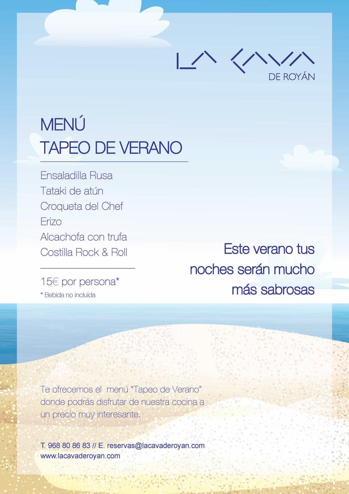 """Menú """"Tapeo de Verano"""" en La Cava de Royán"""