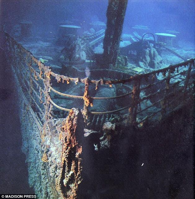 Bbb il y a un si cle le titanic coula for Titanic epave interieur