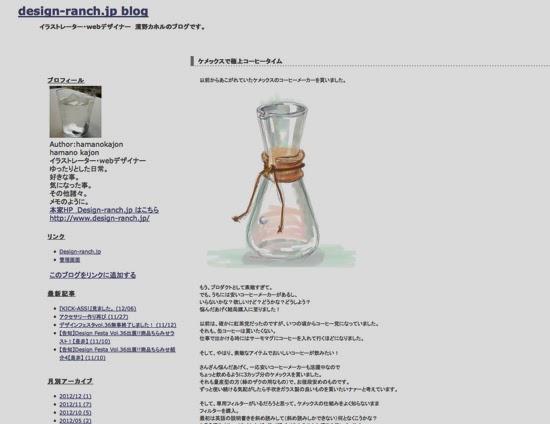 design-ranch.jp blog / ケメックスで極上コーヒータイム