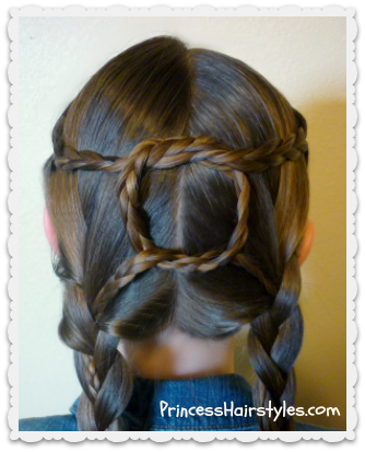 square knot braided hairstyle