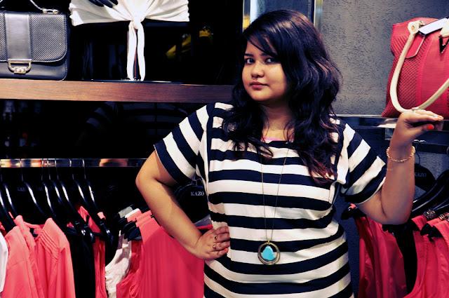 vero moda black & white striped top