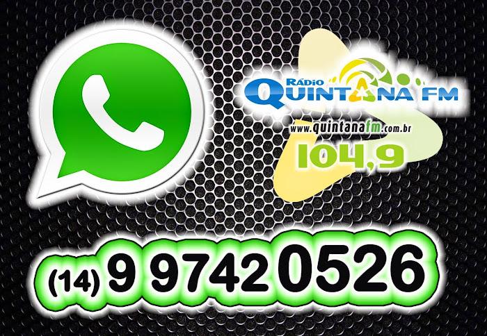 peça sua musica pelo Whatsapp da Quintana FM
