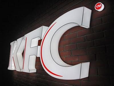chữ nổi KFC