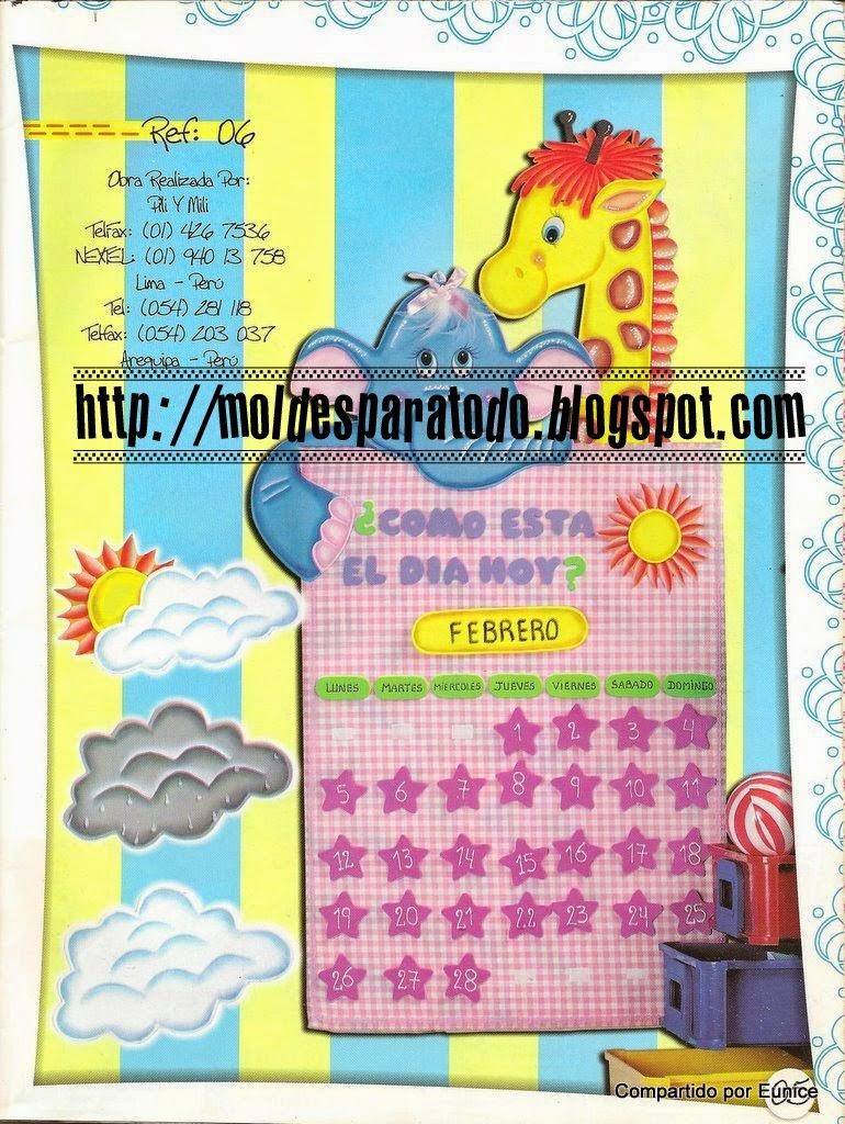 Moldes para Todo: ~ Calendario de Animalitos