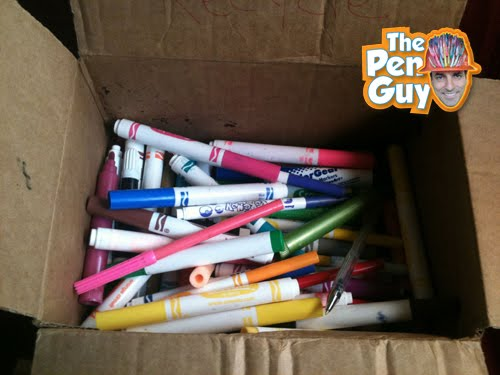 Pen donation from San Jose California for the pen guy