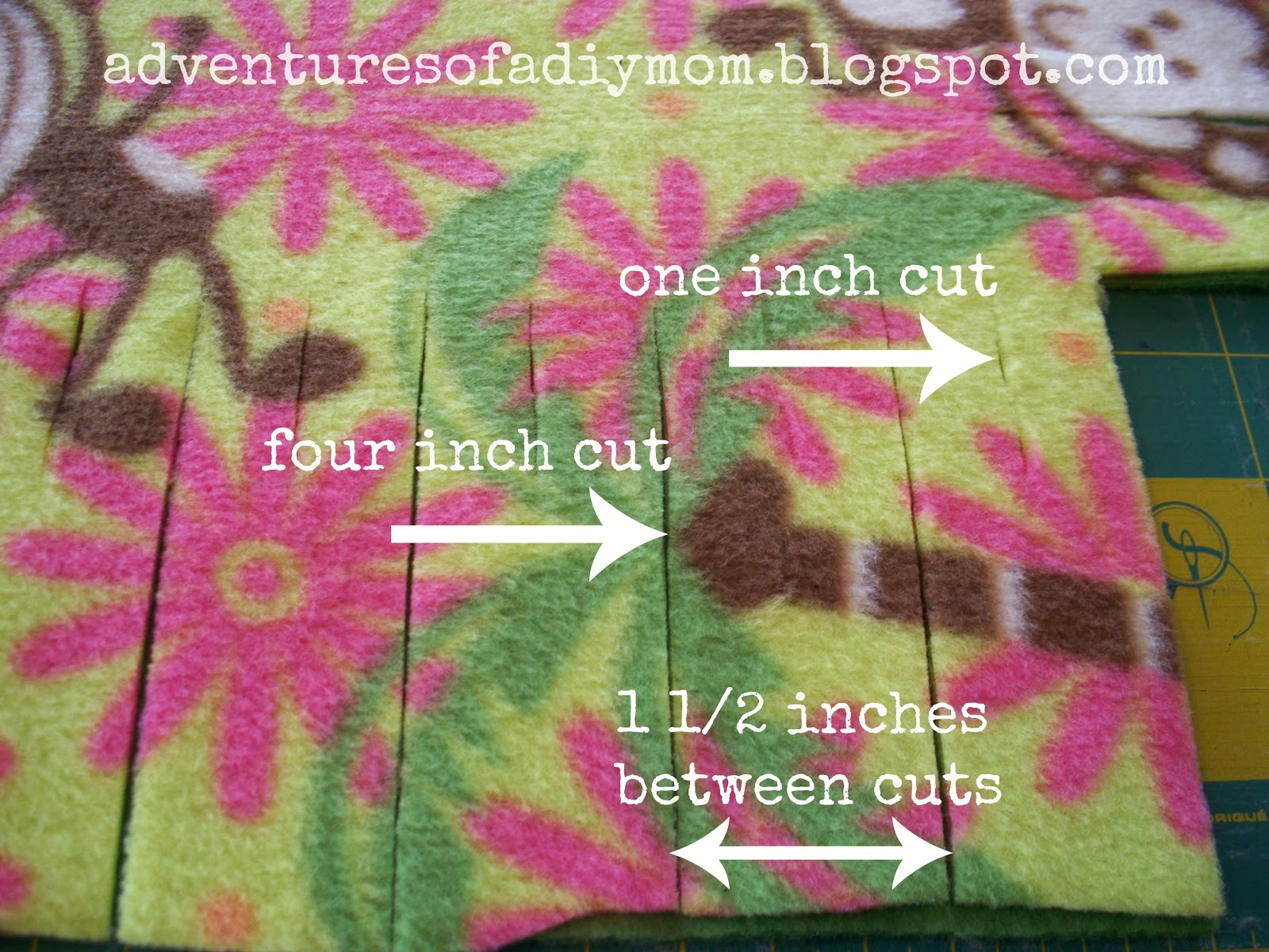 How to Make a No Sew Fleece Blanket Adventures of a DIY Mom : 1005611 from www.adventuresofadiymom.com size 1600 x 1200 jpeg 371kB