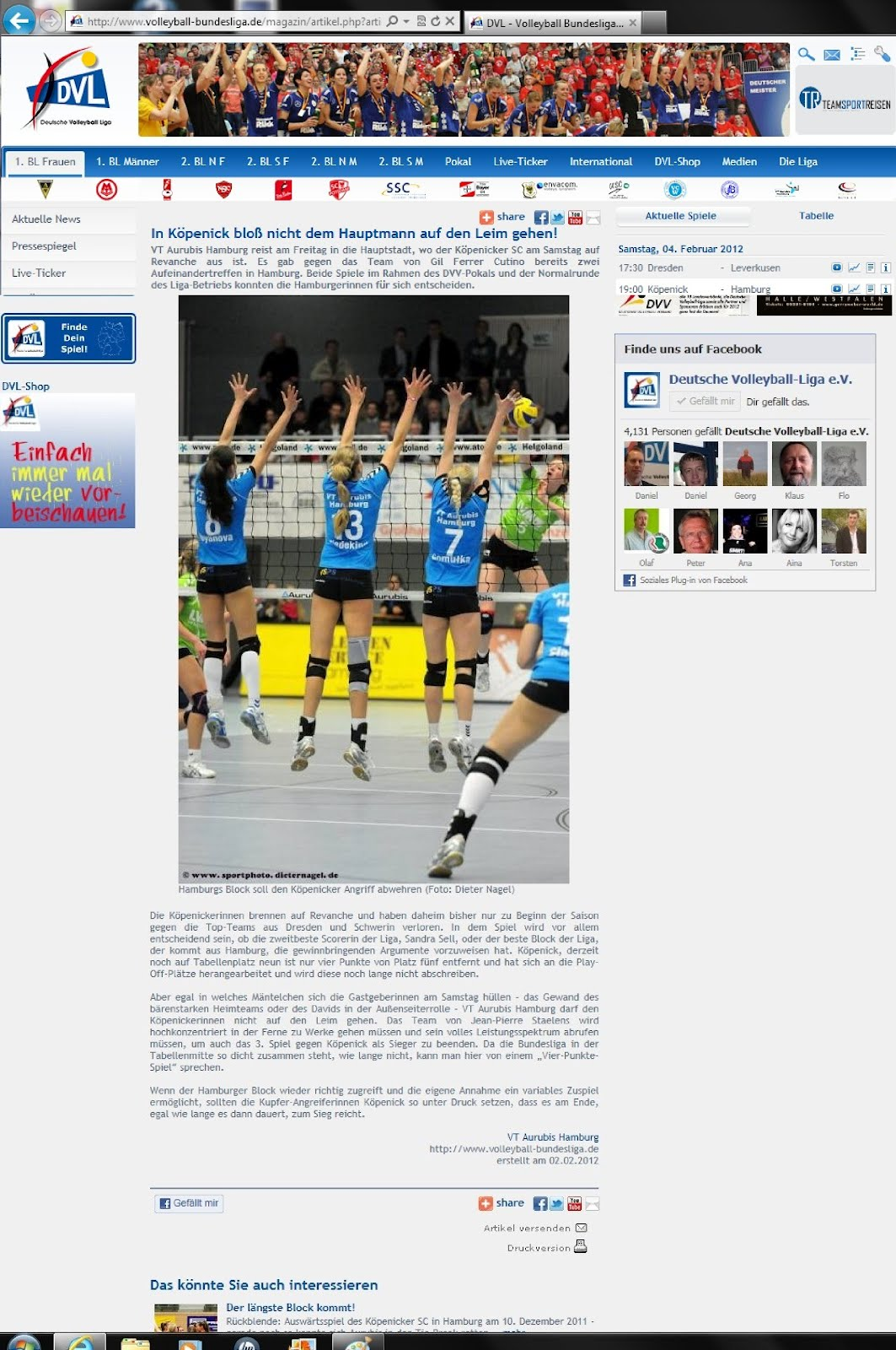 Volleyball live-ticker