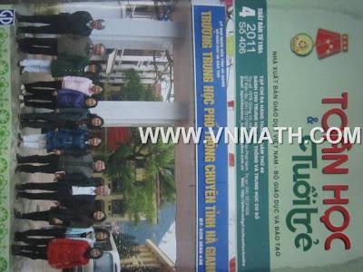 TAP CHI TOAN HOC TUOI TRE SO 406, THANG 4 NAM 2011, rtapj chí toán học và tuổi trẻ số 406