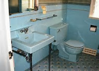 Blue Toilet and Sink