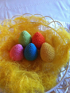 virkade ägg crochet egg