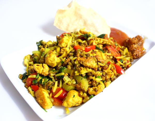 Oppskrift Møllpanne Indisk Pytt I Panne Møllbønner Bønner Vegan Tofu Gurkemeie Moth Beans