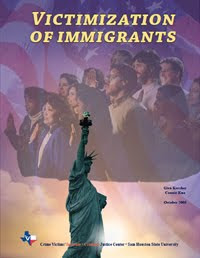 Cover of the Immigrant Crimes report from the Crime Victims Institute.