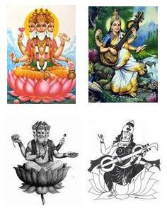 Hindu God Saraswati