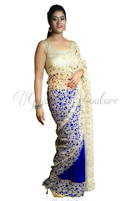 Blue Designer Saree at Baronial Feminite