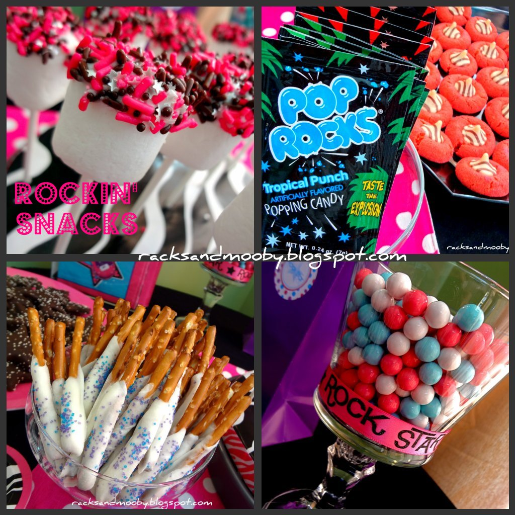 Party Ideas Snacks: RACKS And Mooby: Rock Star Party