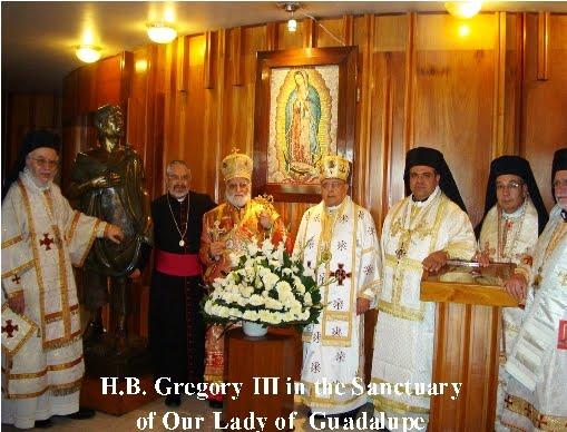 Patriarca Greco Melquita Catolico en La Basilica de Guadalupe