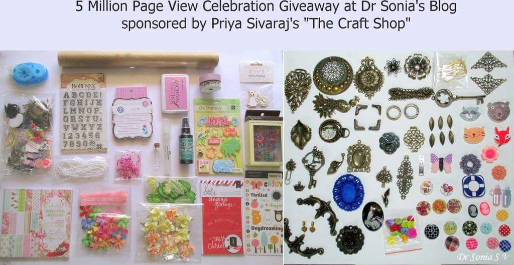 5 million page views giveaway celebration at Dr Sonia's blog