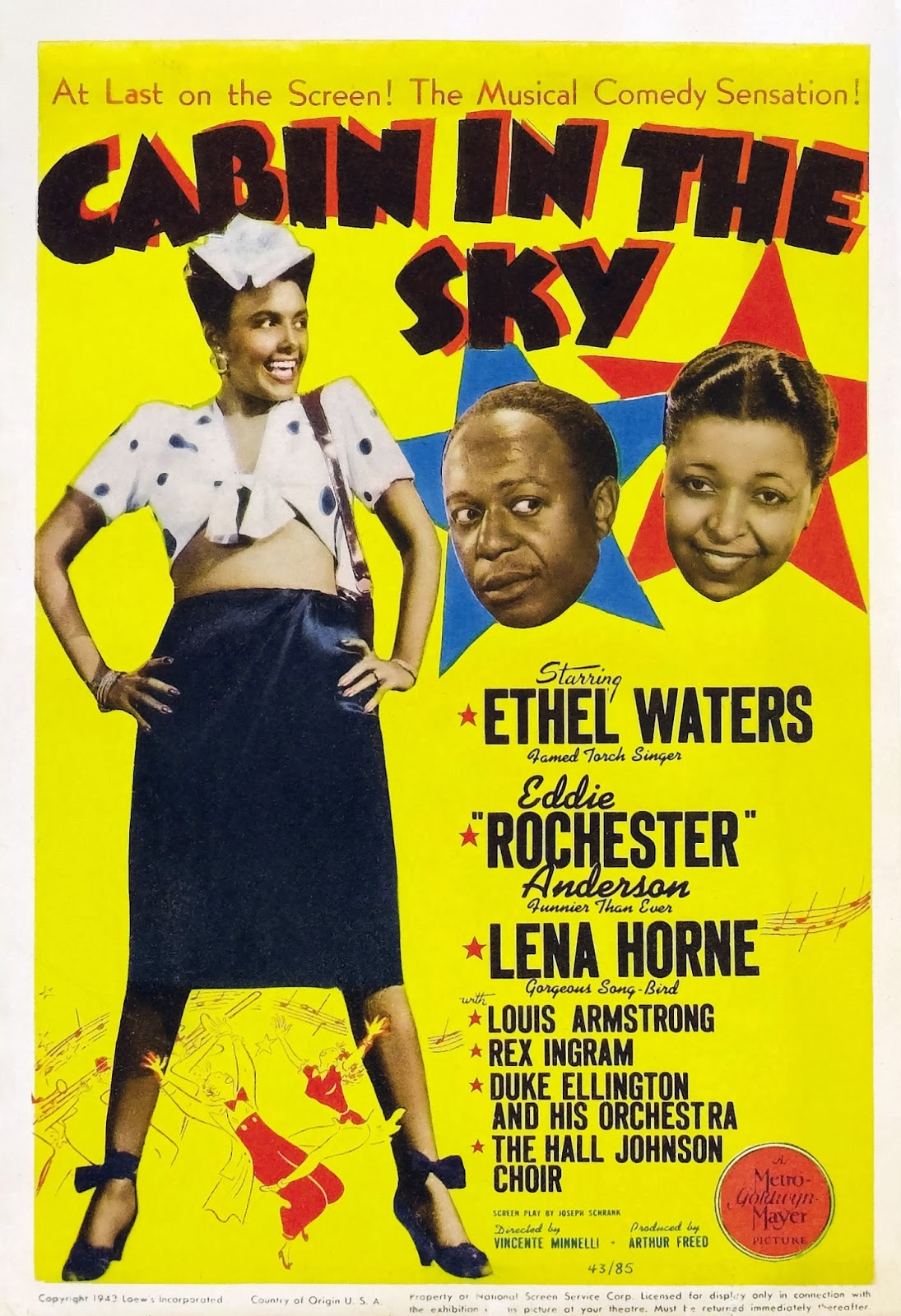 Cabin In the Sky 1943 English Christian Movie Poster