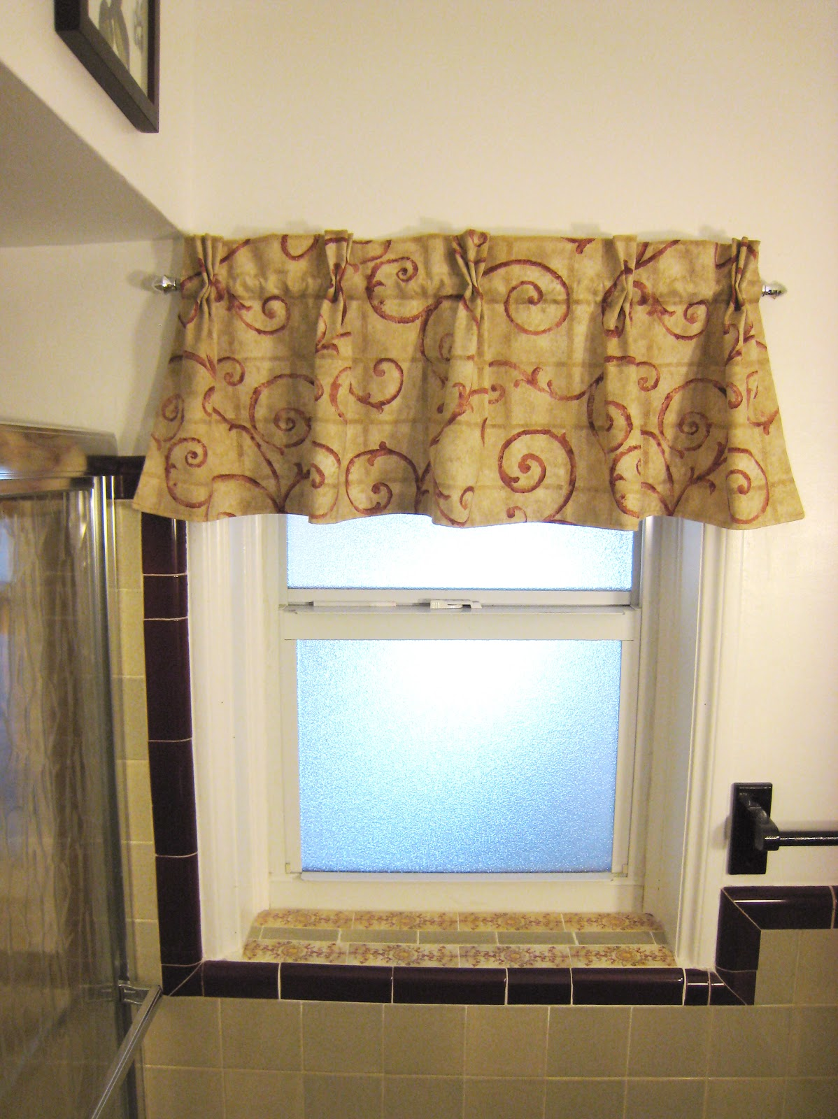 The reformatory bathroom window valance for Window valance