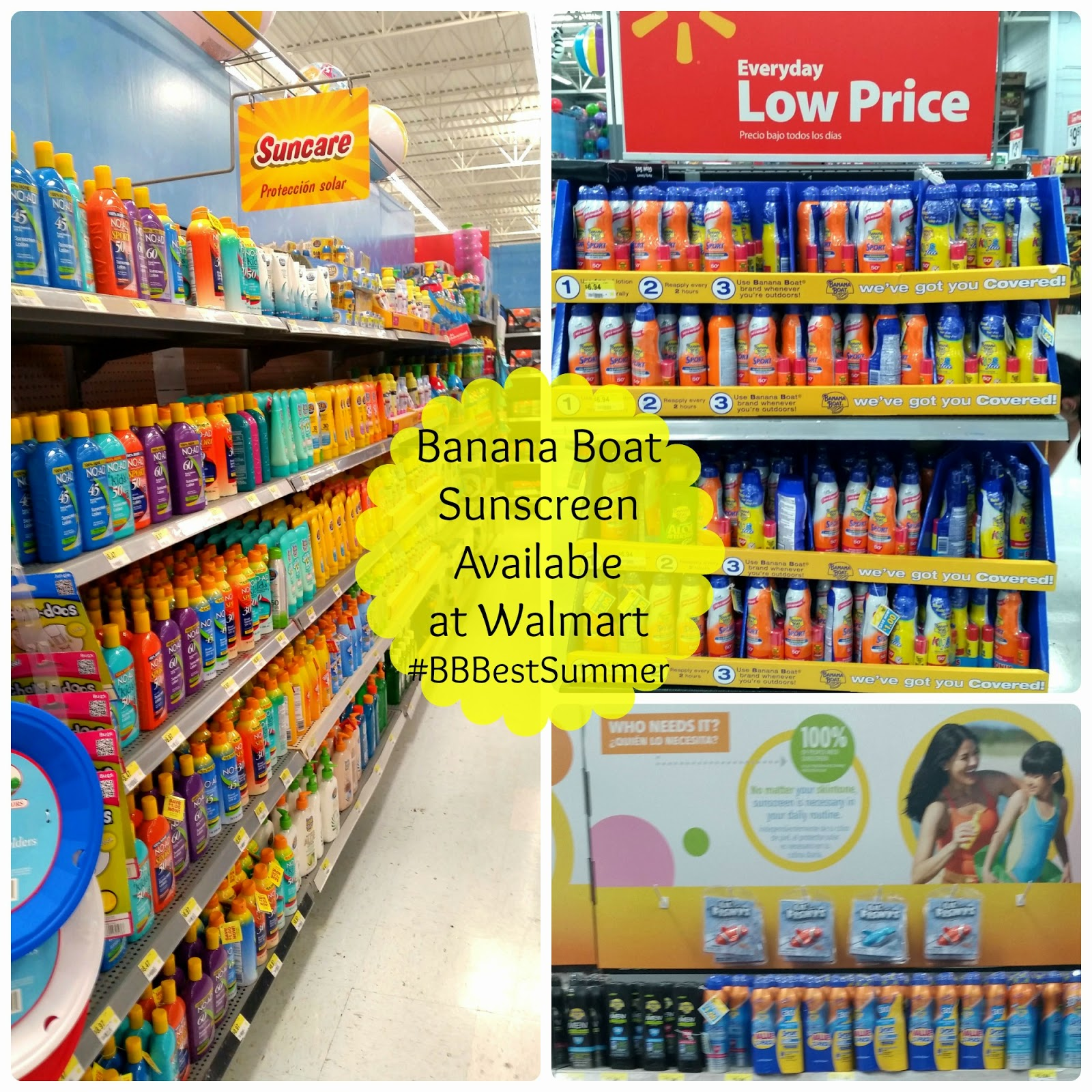 Banana Boat sunscreen available at Walmart #BBBestSummer #shop
