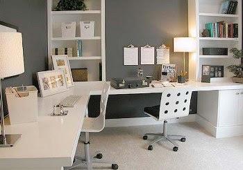 Desain interior kantor minimalis putih