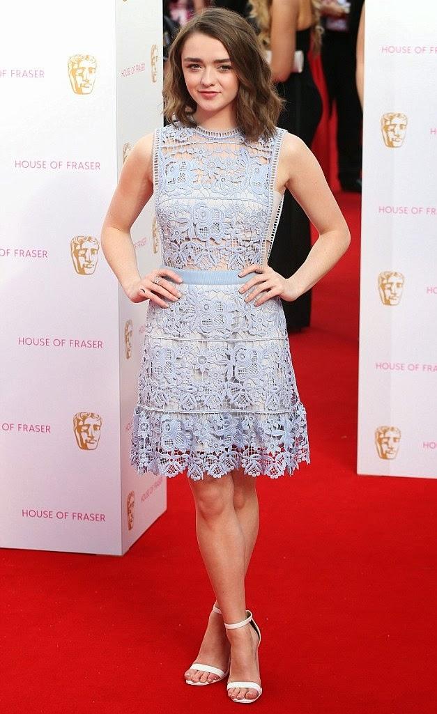 TV BAFTA awards- Best dressed, Maisie Williams