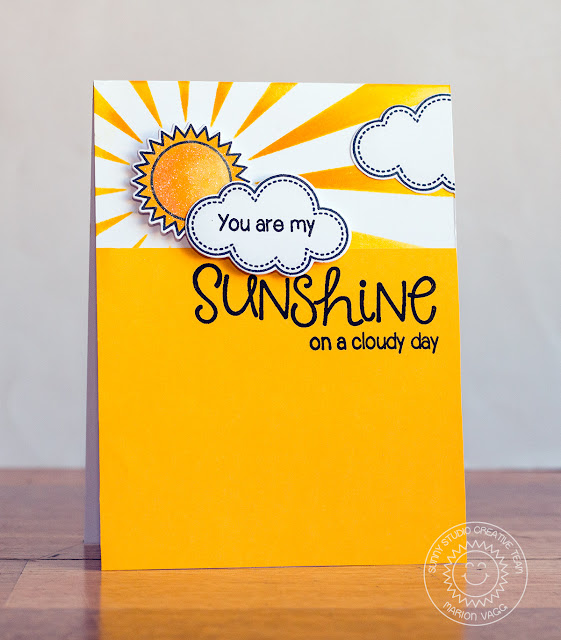 Sunny Studio: Sunny Sentiments You are My Sunshine card by Marion Vagg