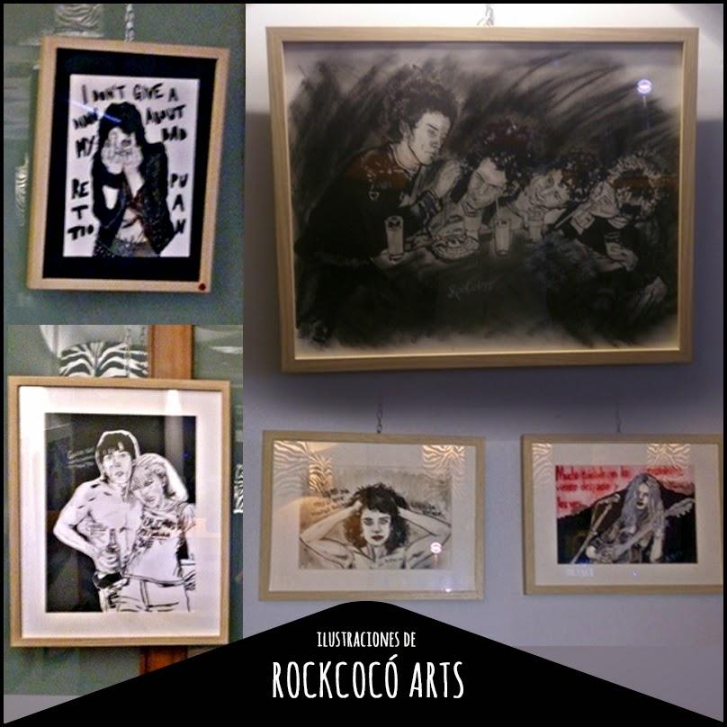 retratos de músicos, music illustration, rockcocó