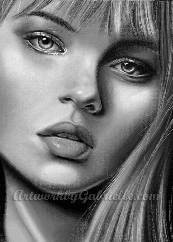 Retratos A Lápiz De Mujeres Famosas Quiero Más Diseño