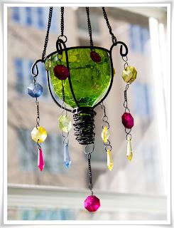 Grön hängande ljuslykta