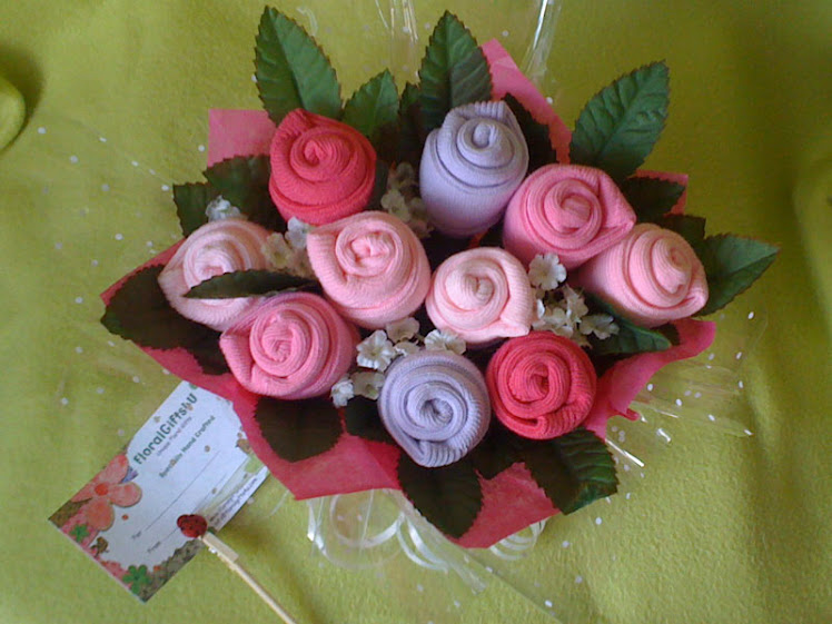 Pink Baby Sock Posy