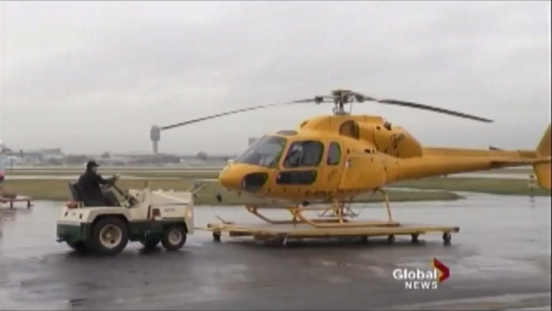 Yellow Bc Helicopter
