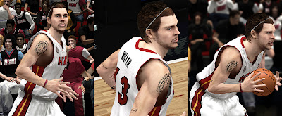 NBA 2K13 Mike Miller Cyberface Long Hair with Headband Patch