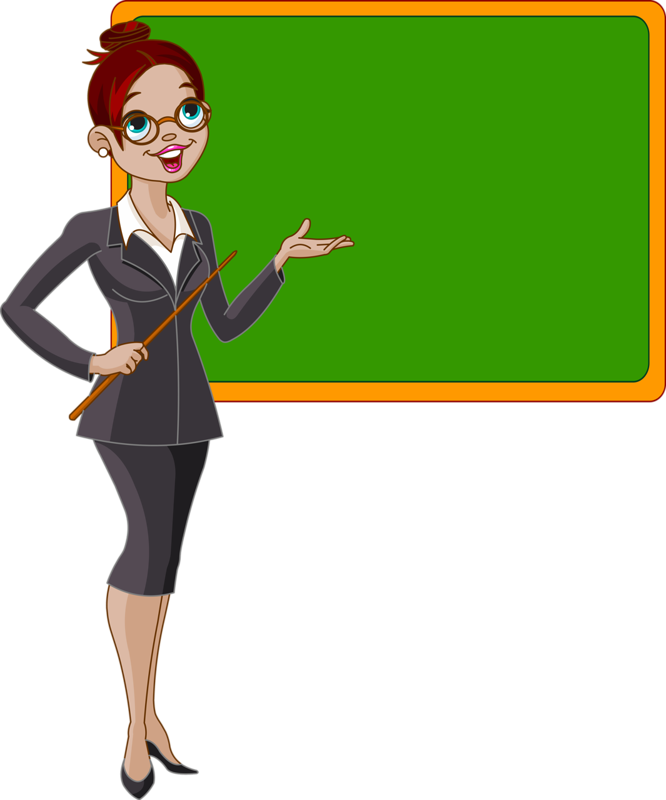 Pretty Cartoon Teacher