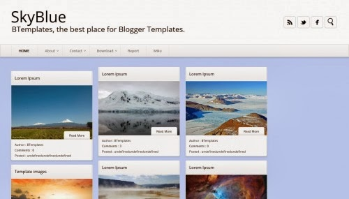 sky blue blogger templates 2014,blogger templates,blue sky templates for blogger,free templates download
