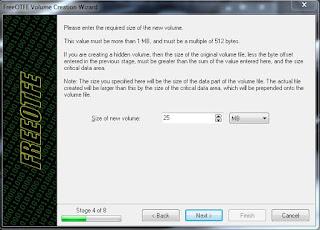 menentukan kapasitas folder