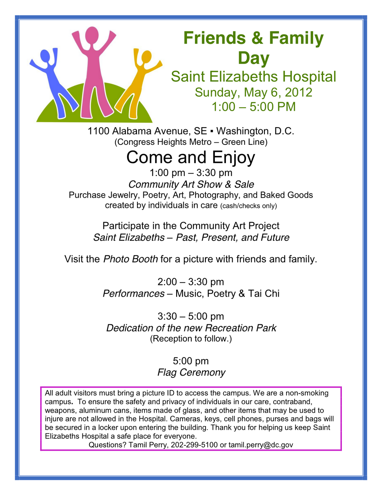 Family day invitation template on the rise may 6 friends family day saint elizabeths hospital stopboris Images