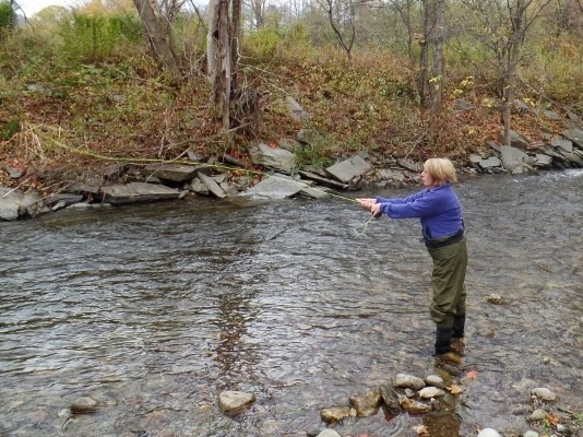 Fall fishing for Vermont trout fishing