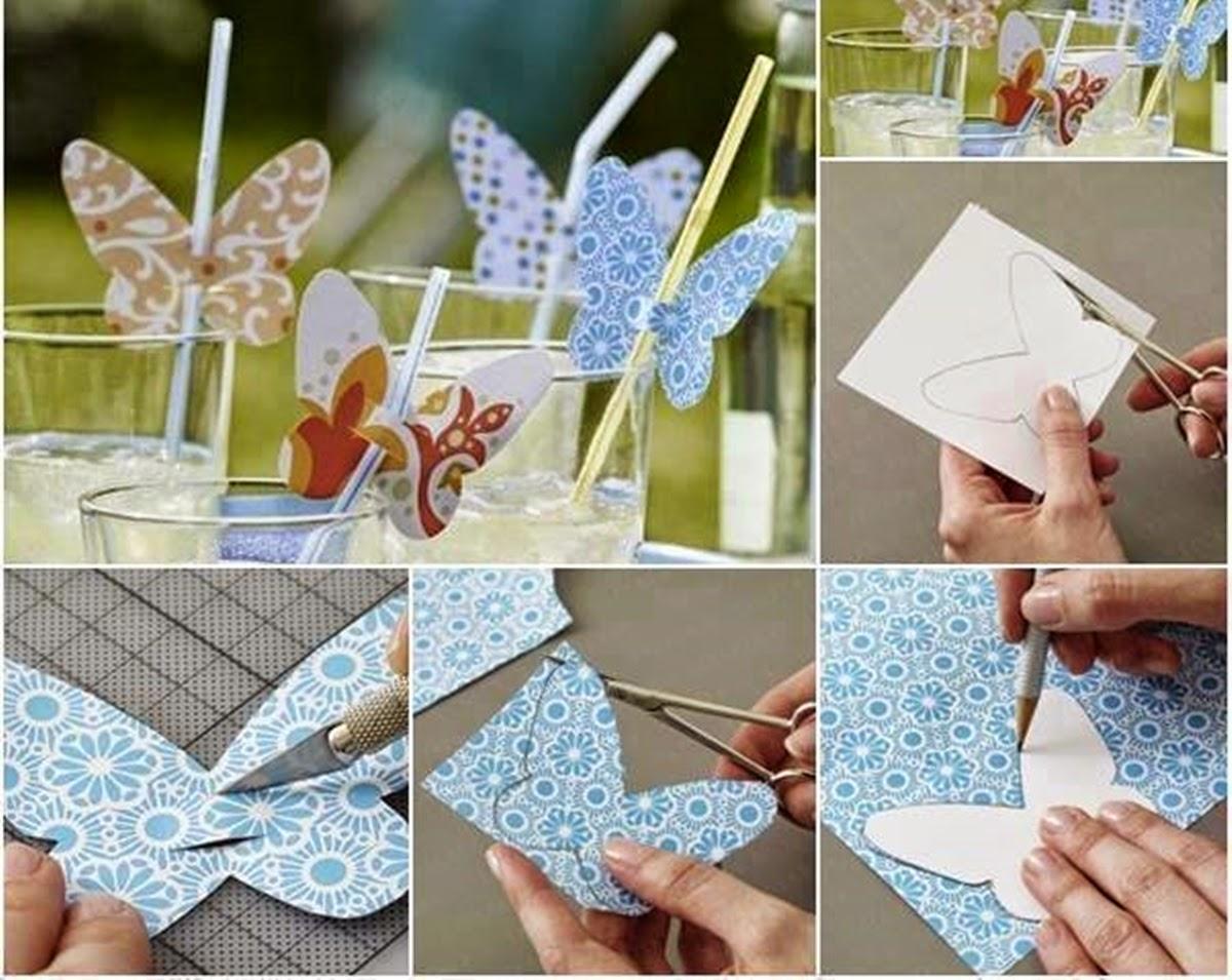 2 ideas para decorar los vasos de cara a una fiesta for Decoracion con abanicos
