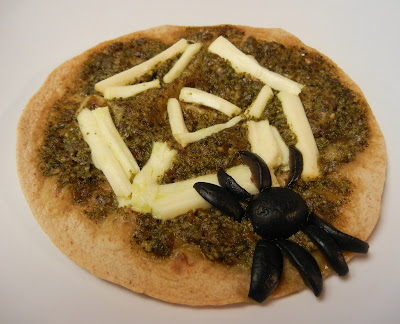 Spooky+Spider+Web+Tortilla+Pizza Weight Loss Recipes Halloween Spooky Spider Web Tortilla Pizza