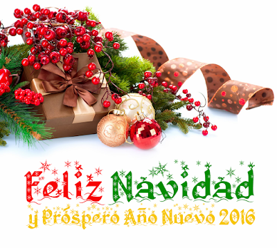 tarjetas de Feliz Navidad 2015 y Feliz Año Nuevo 2016