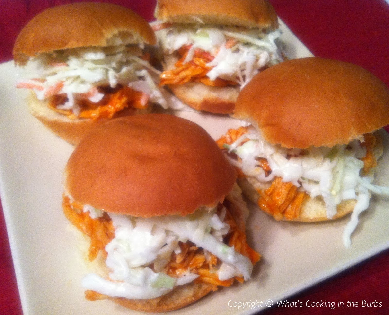 ... Cooking in the Burbs: Buffalo Chicken Sliders with Cool Ranch Slaw